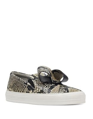 Odienella Bow-Accent Sneakers by Nine West