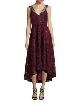 Hi-Lo Lace Gown by Belle Badgley Mischka