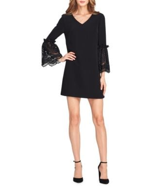 Petite Lace Bell-Sleeve Shift Dress by Tahari Arthur S. Levine