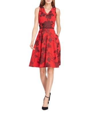 Petite Floral Sleeveless Fit-&-Flare Dress by Tahari Arthur S. Levine