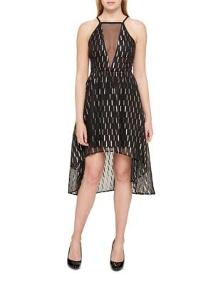 Foil Halter Dress by Guess