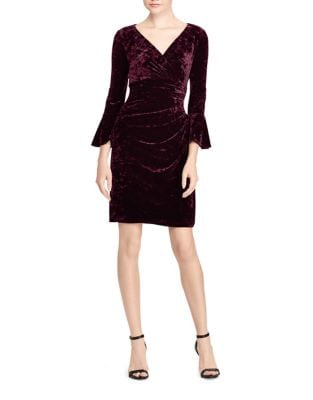 Petite Bell Velvet Dress by Lauren Ralph Lauren