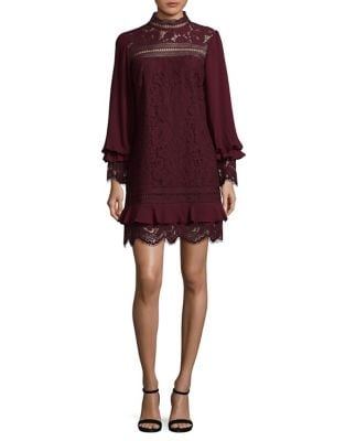 Long Sleeve Lace Dress by Laundry by Shelli Segal