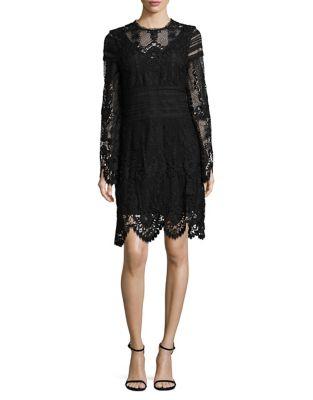 LAUNDRY BY SHELLI SEGAL LACE SHEATH DRESS