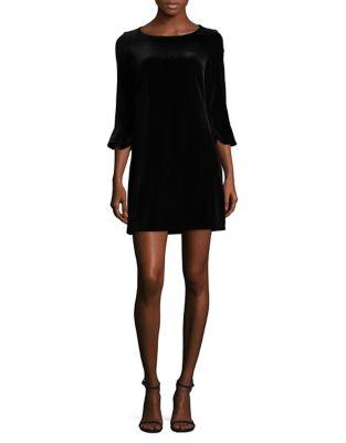 Velvet Flounce Mini Dress by Laundry by Shelli Segal
