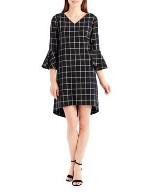 Checkered Shift Dress by Nicole Miller New York