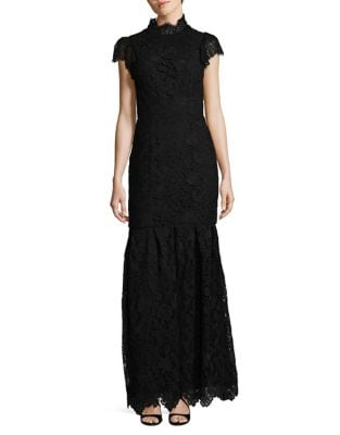 Guipure Lace Cotton Evening Dress by ML Monique Lhuillier