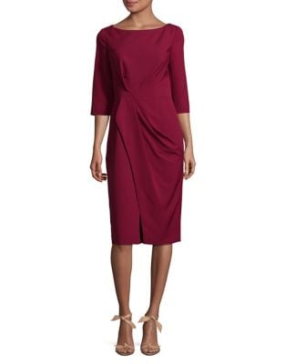 Boatneck Sheath Dress by Vince Camuto Plus