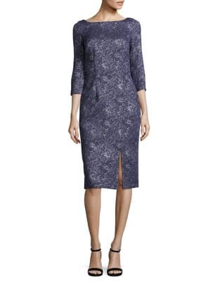 Three-Quarter Sleeve Dress by JS Collections