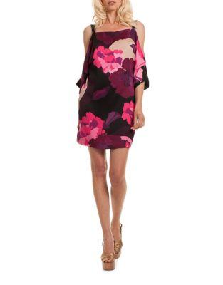 Draped Cold-Shoulder Dress by Trina Turk