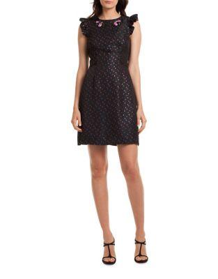 Davis Del Zuro Dot Jacquard Dress by Trina Turk