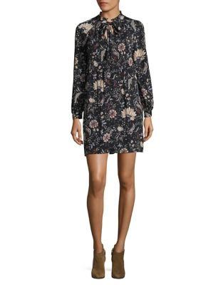 Floral Lace-Up Shift Dress by Mika & Gali