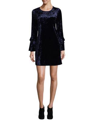 Velvet Fit-&-Flare Dress by BCBGeneration