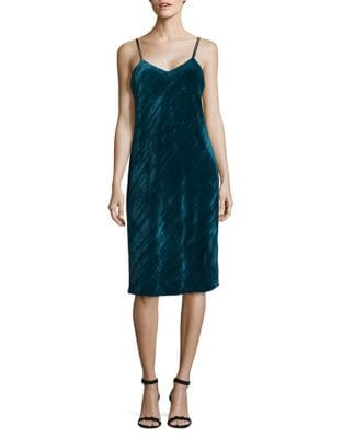 Crushed Velvet Slip Dress by Sam Edelman