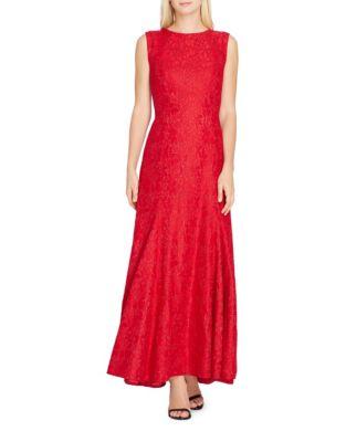 Lace Sleeveless A-Line Dress by Tahari Arthur S. Levine
