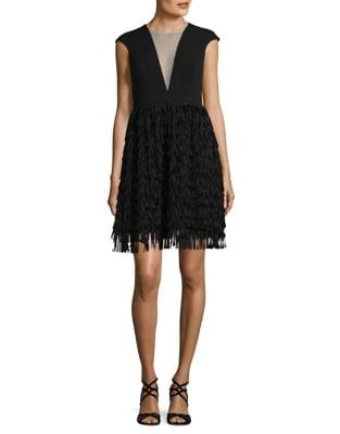 Fringe Dress by Belle Badgley Mischka