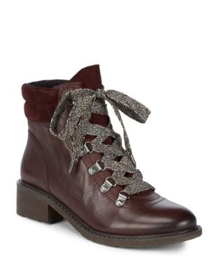 Darrah Lace-Up Leather Booties by Sam Edelman