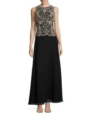 Embellished Sheath Dress by J Kara