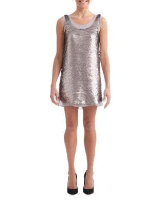 Sequin Smoke Shift Dress by Paper Crown