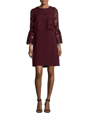 Lace Bell Sleeve Sheath Dress by Laundry by Shelli Segal