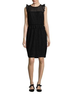 Floral Lace Embroidered Dress by Laundry by Shelli Segal