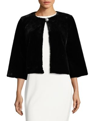 Quarter-Sleeve Faux Fur Bolero by Laundry by Shelli Segal