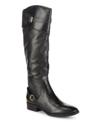Photo of Buckled Leather Tall Boots by Sam Edelman - shop Sam Edelman shoes sales