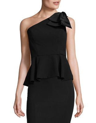 One-Shoulder Peplum Top by Eliza J