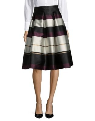 Striped Sateen Skirt by Eliza J