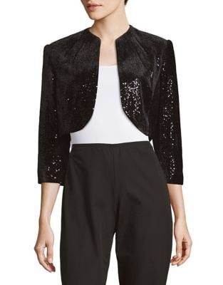 Sequined Open Front Bolero by Tahari