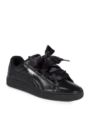 Ribbon Lace-Up Leather Sneakers by PUMA