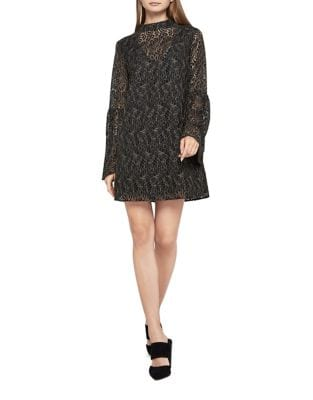 Two-Tone Lace A-Line Dress by BCBGeneration
