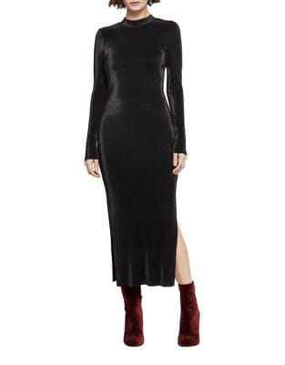 Long Sleeve Velvet Dress by BCBGeneration