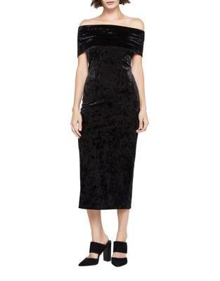 Off-The-Shoulder Velvet Dress by BCBGeneration