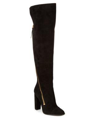 Ariela Suede Knee-High Boots by Donna Karan