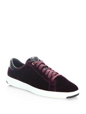 Grandpro Tennis Velvet Sneakers by Cole Haan