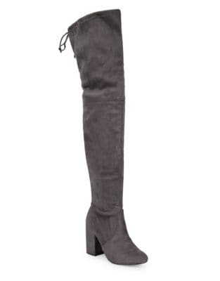 Norri Microsuede Over The Knee Boots by Steve Madden