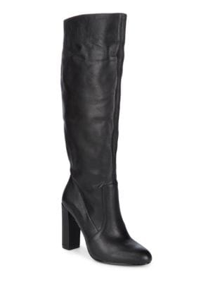 Leather Knee-High Boots by Steve Madden