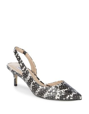 Vera Snake Print Leather Slingback Pump by Steve Madden