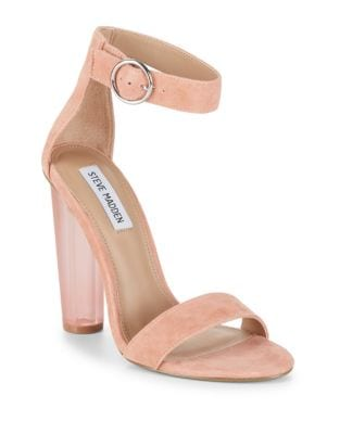 Suede Ankle-Strap Sandals by Steve Madden