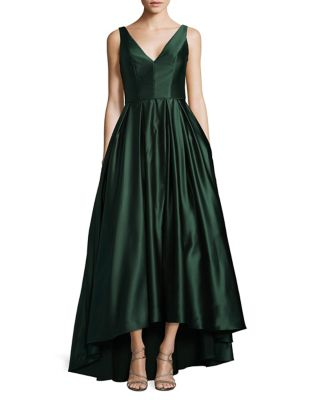 Hi-Lo Satin Gown by Betsy & Adam