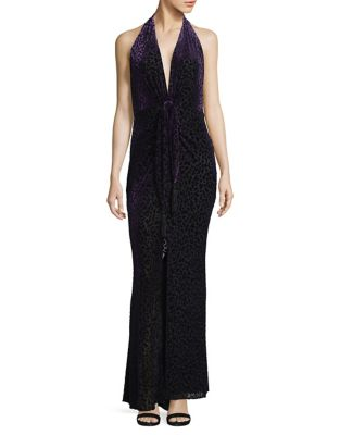 Velvet Sleeveless Gown by BCBGMAXAZRIA