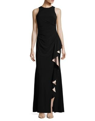 Ruffle Evening Gown by Betsy & Adam