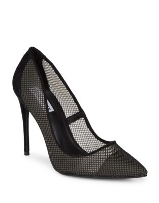 Darling Suede and Mesh Pumps by Steve Madden