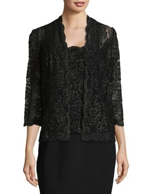 Two-Piece Brocade Lace Jacket and Camisole by Alex Evenings