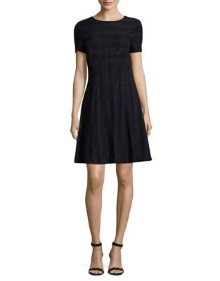Short Sleeve Shift Dress by Tahari Arthur S. Levine