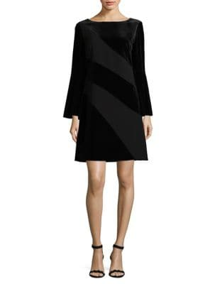 Velvet Bell Sleeve Dress by Tahari Arthur S. Levine