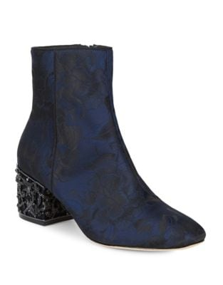 Embroidered Floral Booties by Badgley Mischka