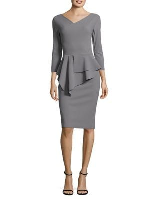 V-Neck Peplum Dress by Chiara Boni La Petite Robe