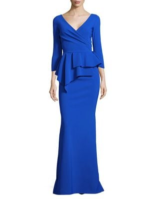 Peplum Floor-Length Gown by Chiara Boni La Petite Robe